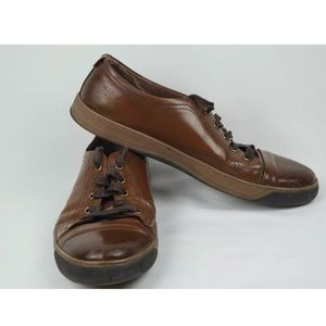 J & M Allister Dress Shoes Brown Leather Lace Up